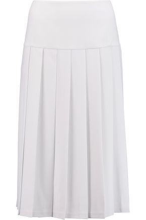 ALICE + OLIVIA Joann pleated crepe skirt