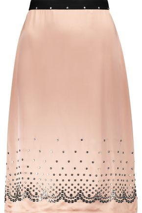 ALEXANDER WANG Embellished satin skirt