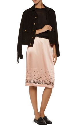 ALEXANDER WANG Embellished satin skirt