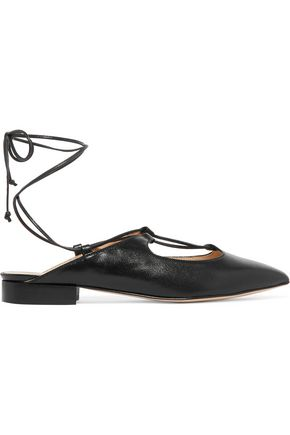 IRIS & INK Lace-up leather slippers
