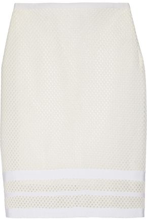 JONATHAN SIMKHAI Embroidered stretch-mesh pencil skirt
