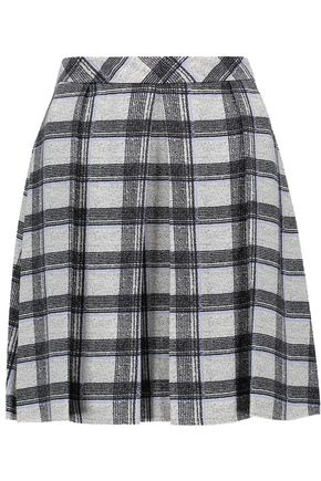 PROENZA SCHOULER Pleated checked crepe mini skirt