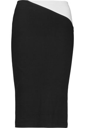 ALICE + OLIVIA Karissa two-tone stretch-jersey pencil skirt