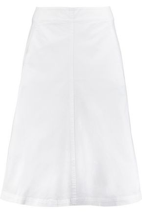T by ALEXANDER WANG Cotton-blend midi skirt