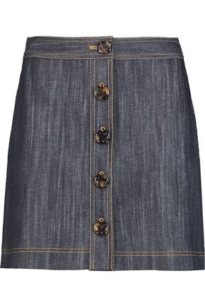 ADAM LIPPES Denim mini skirt