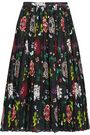 ADAM LIPPES Pleated floral-print voile wrap skirt