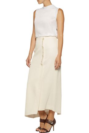 ELLERY Jacques wrap-effect satin-crepe midi skirt
