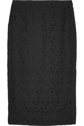 DEREK LAM 10 CROSBY Cotton-blend lace skirt