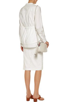 10 CROSBY DEREK LAM Cotton-blend lace skirt