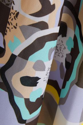 RAOUL Ivy Swing printed georgette midi skirt