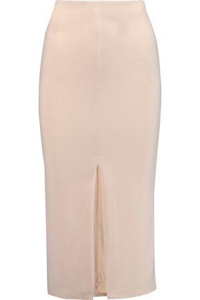 ALICE + OLIVIA Stretch-crepe midi skirt