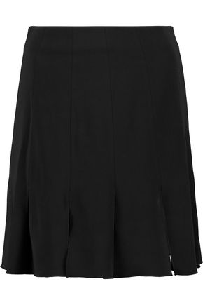 RACHEL ZOE Brielle pleated stretch-crepe mini skirt