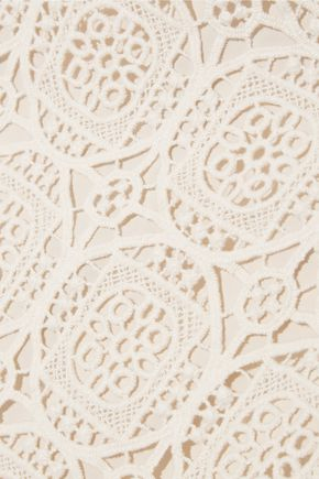 ALICE + OLIVIA Khiara crocheted cotton skirt