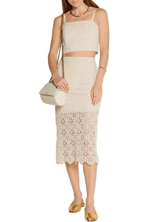 ALICE + OLIVIA Khiara crocheted cotton skirt