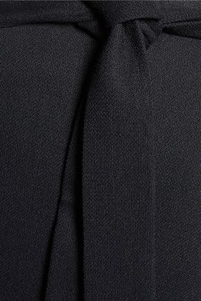 HELMUT LANG Wrap-effect ramie-blend midi skirt