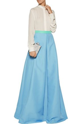 ROKSANDA Elida pleated cotton-blend maxi skirt