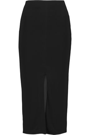 ALICE + OLIVIA Stretch-crepe midi skirt