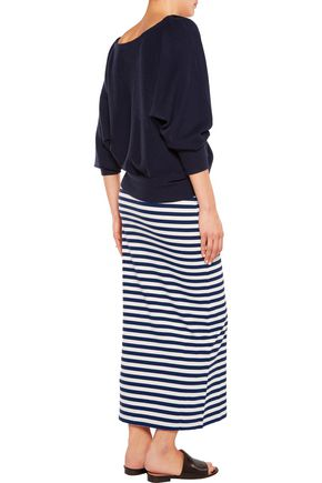 IRIS AND INK Striped cotton maxi skirt