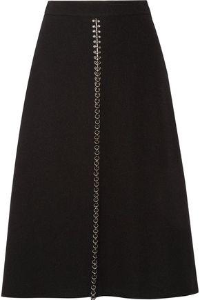 ALEXANDER WANG Embellished crepe midi skirt