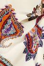 TORY BURCH Pleated printed silk crepe de chine maxi skirt