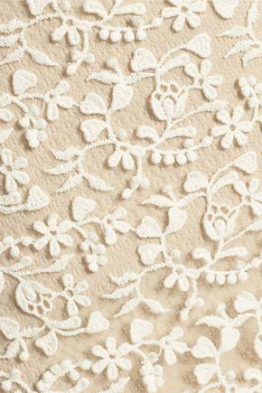 ALICE + OLIVIA Misha embroidered tulle maxi skirt