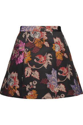 ALICE + OLIVIA Loran metallic brocade mini skirt
