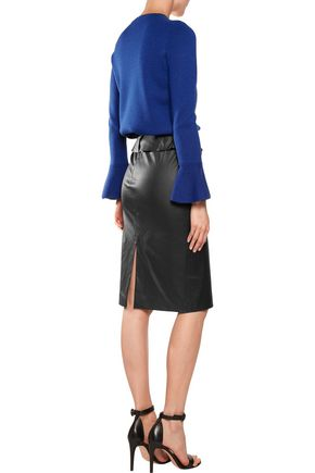 IRIS & INK Leather pencil skirt