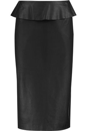 IRIS AND INK Leather pencil skirt