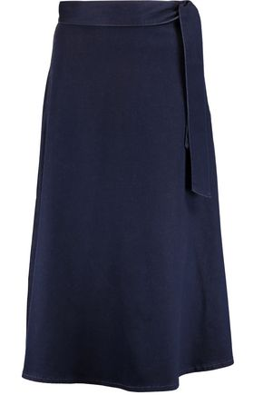 IRIS & INK Stretch-denim midi skirt