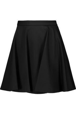 ALICE + OLIVIA Blaise pleated cotton-blend cady mini skirt