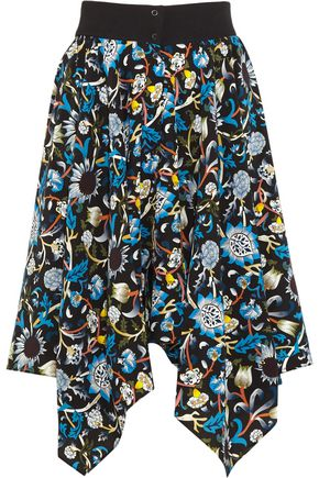 J.W.ANDERSON Printed silk crepe de chine skirt