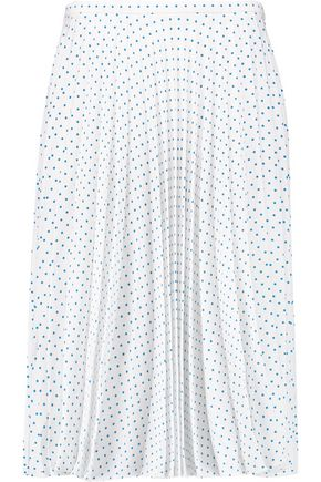 J.W.ANDERSON Polka-dot pleated crepe skirt