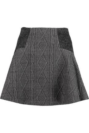 ALICE + OLIVIA Elsie jacquard mini skirt