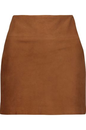 ALICE + OLIVIA Sophya suede mini skirt