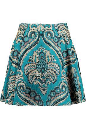 ALICE + OLIVIA Vernon pleated jacquard mini skirt
