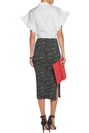 ALICE + OLIVIA Crochet-knit midi skirt