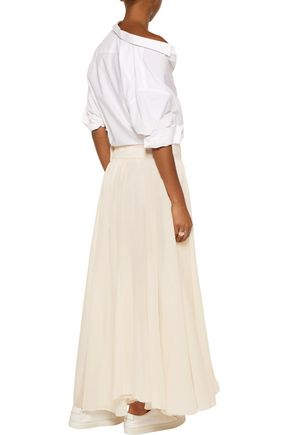 MARQUES ALMEIDA Pleated cotton maxi skirt