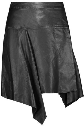 ISABEL MARANT Calliope asymmetric pleated leather mini skirt