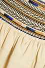 ISABEL MARANT Saxen embellished cotton mini skirt