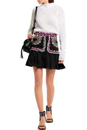 ISABEL MARANT Shad embroidered cotton-twill mini skirt