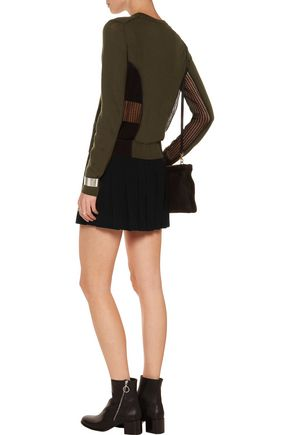 MARC BY MARC JACOBS Pleated crepe mini skirt