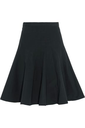 MARC BY MARC JACOBS Pleated cotton-blend poplin skirt