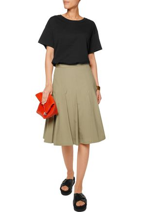 MARC BY MARC JACOBS Pleated stretch-cotton skirt