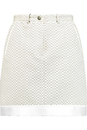 CARVEN Cotton-blend tweed mini skirt