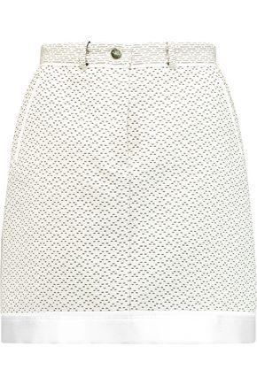 CARVEN Cotton-blend tweed mini skirt