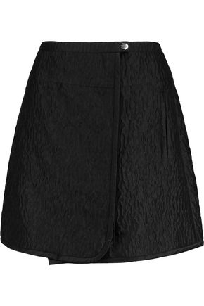 CARVEN Wrap-effect cloqué mini skirt