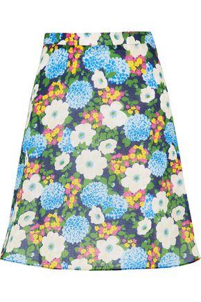 CARVEN Floral-print cotton-voile mini skirt