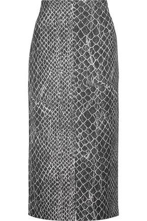 ALICE + OLIVIA Spiga printed woven skirt
