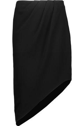 HAUTE HIPPIE Marigold asymmetric crepe skirt