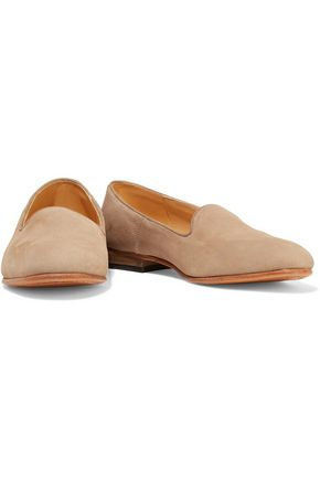 DIEPPA RESTREPO Dandy textured-suede slippers